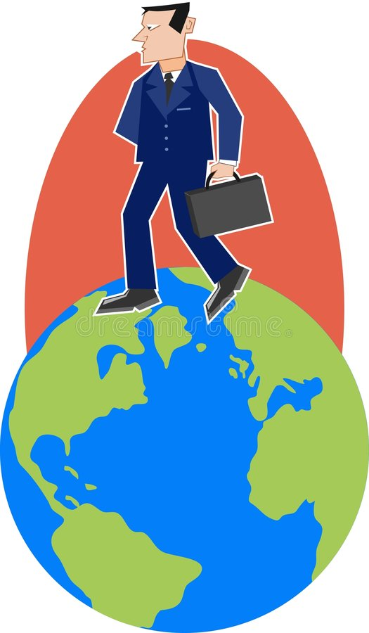 Download Globe Man stock vector. Illustration of clipart, travel - 45838