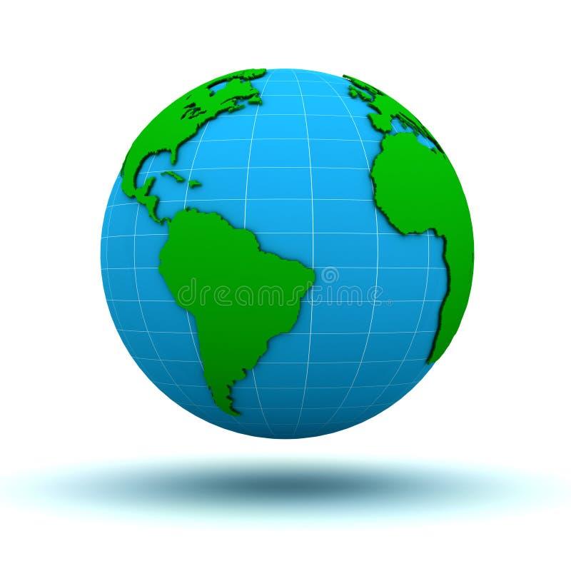 Download Globe Map stock illustration. Image of global, north - 20796341