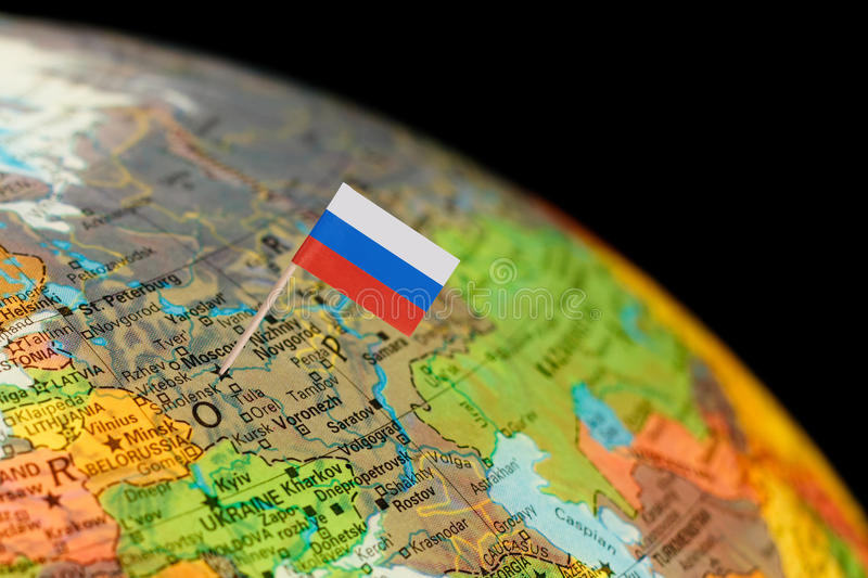 Globe map detail russia with russian flag stock photo image download globe map detail russia with russian flag stock photo image 49010022 gumiabroncs Images