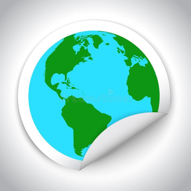 Globe map sticker