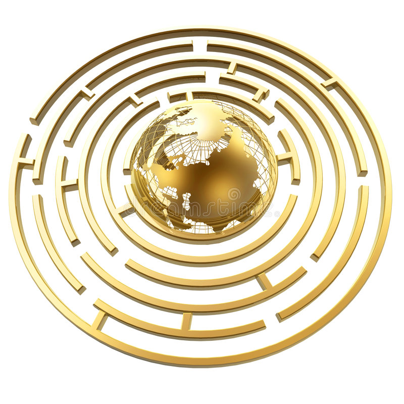 Download Globe In Maze Royalty Free Stock Photos - Image: 2586008