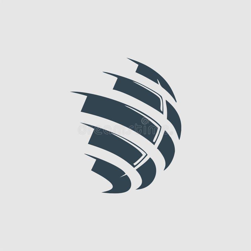 Globe monogram logo inspiration. Globe monogram logo design inspiration isolated on white background vector illustration
