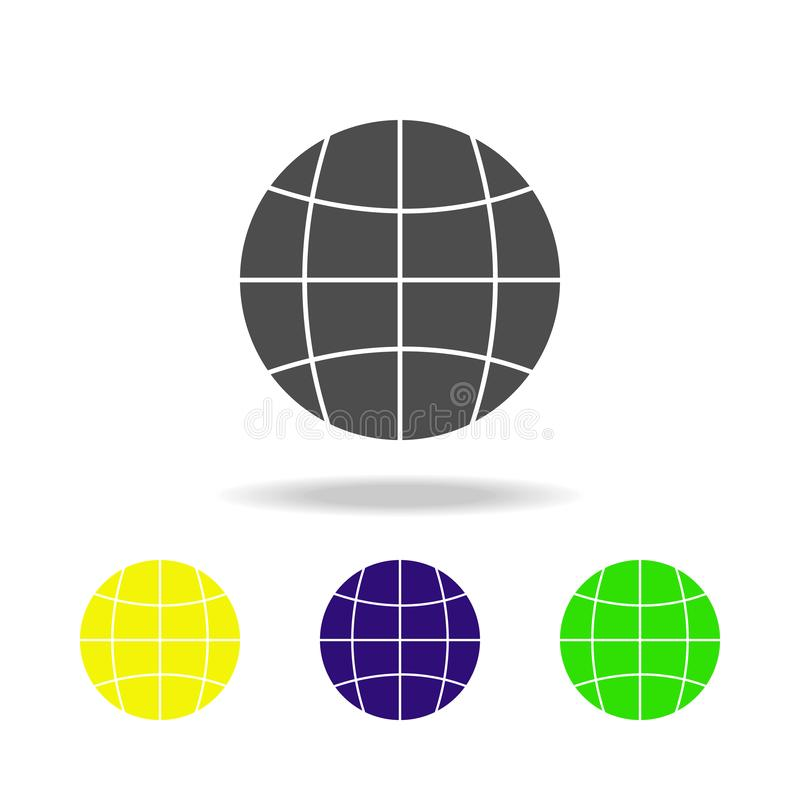 globe multicolor icon. Element of web icons. Signs and symbols icon for websites, web design, mobile app on white background with stock illustration