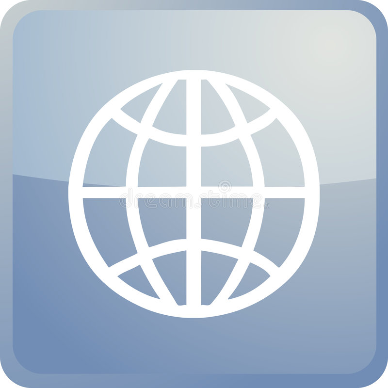 Download Globe navigation icon stock vector. Image of software - 7140272