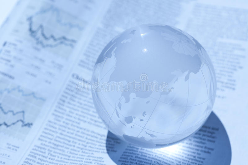 Globe and newspaper royalty free stock images