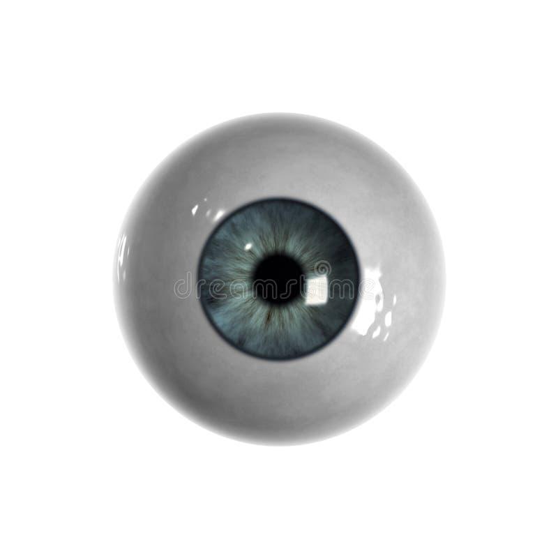 globe oculaire bleu aucunes veines visibles illustration libre de droits