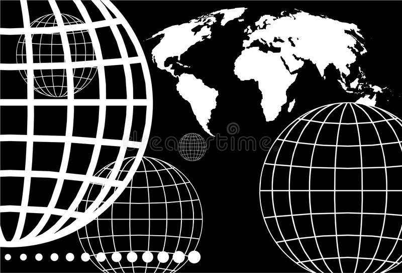 globe oczek royalty ilustracja