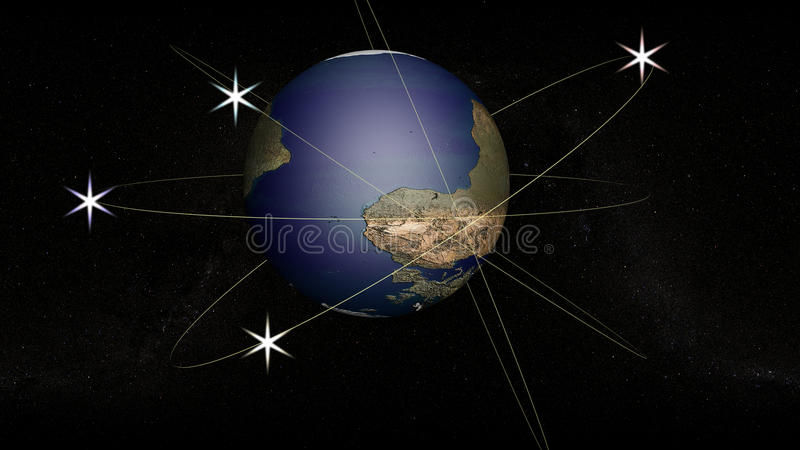 Download The globe with the orbits stock illustration. Image of form - 13393051