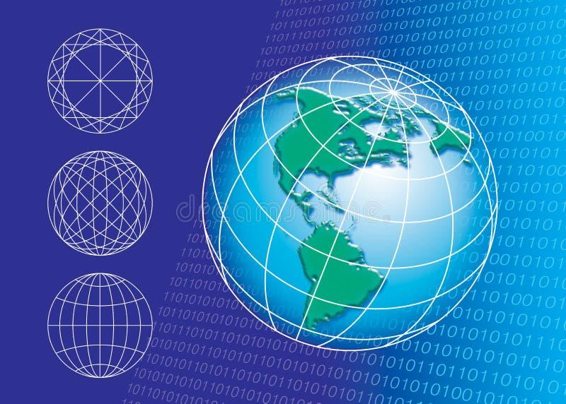Download Globe outline stock illustration. Image of geography, bite - 3518973