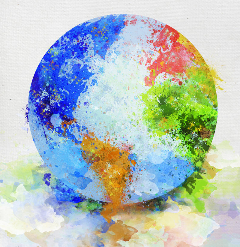 Globe painting