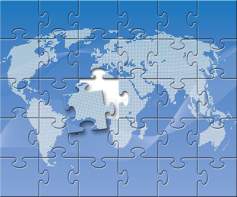Globe perplexe illustration de vecteur