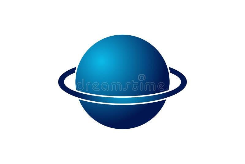 Globe, Planet Logo design inspiration Isolated On white Backgrounds. Globe, Planet Logo design inspiration Isolated On white Backgrounds stock illustration