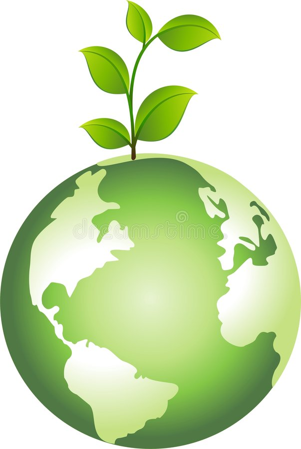 Download Globe with Plant stock vector. Illustration of illustration - 9328653