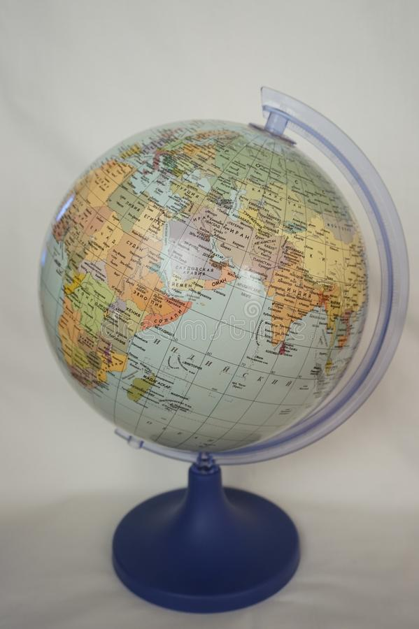Globe with political map of the world royalty free stock image