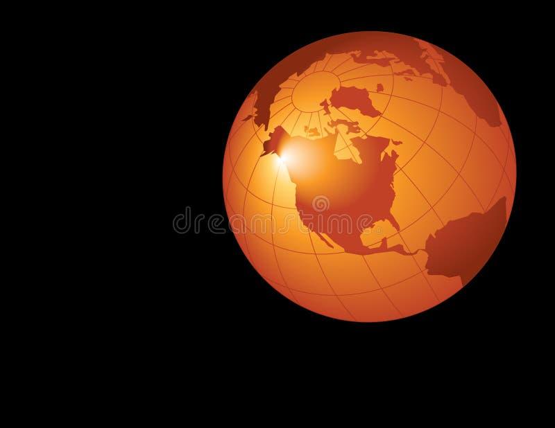 globe pomarańcze ilustracji