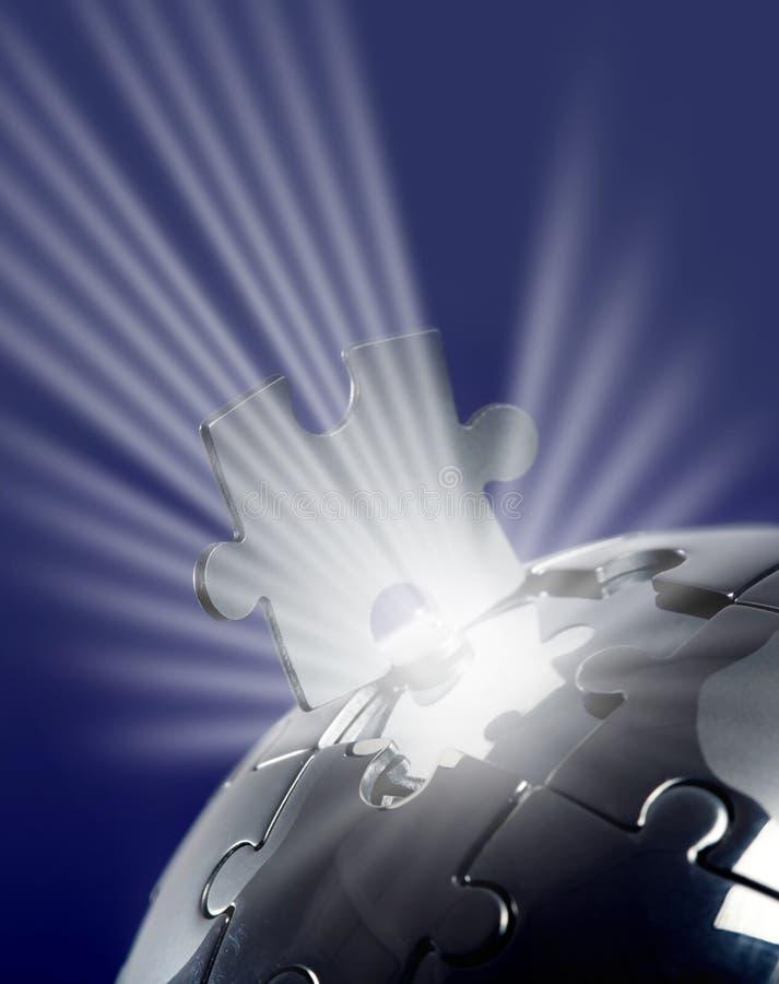 Free Globe Puzzle On Blue Background Royalty Free Stock Photo - 13350315