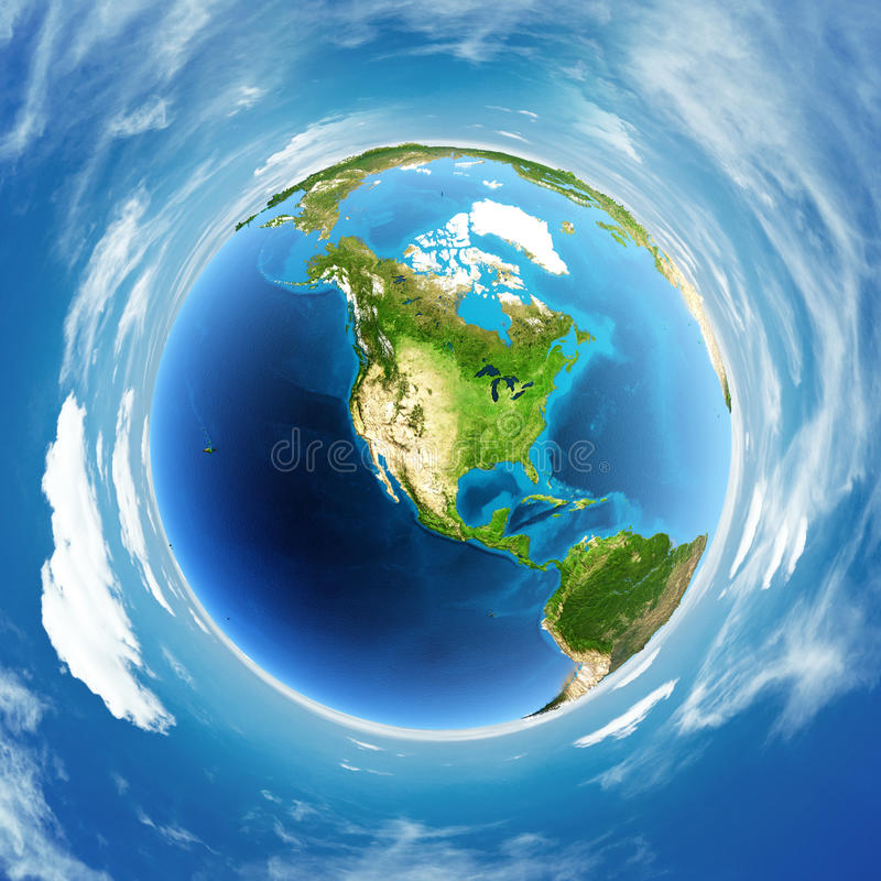 Download Globe real relief stock illustration. Image of space - 42997304