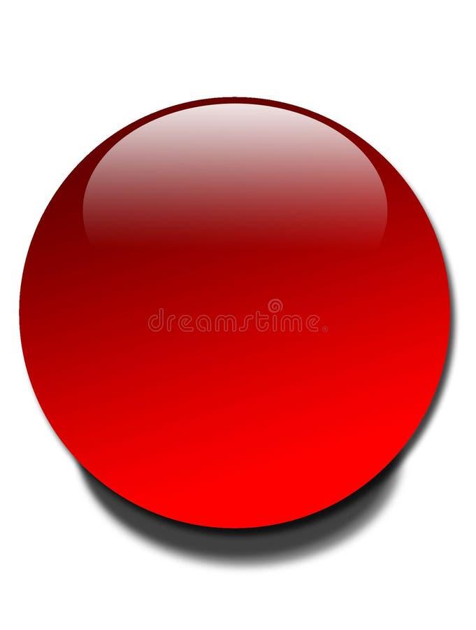 Globe rouge illustration libre de droits