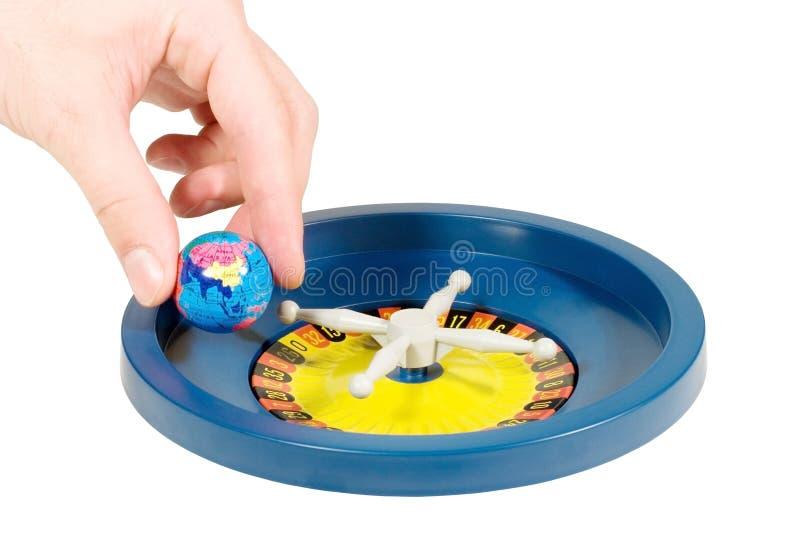 Download Globe on Roulette Wheel stock photo. Image of symbolize - 6410036