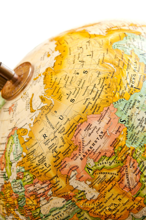 Globe - Russia royalty free stock images
