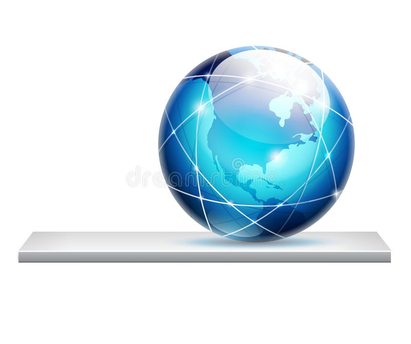 Download Globe on a shelf stock vector. Image of modern, connections - 25342408