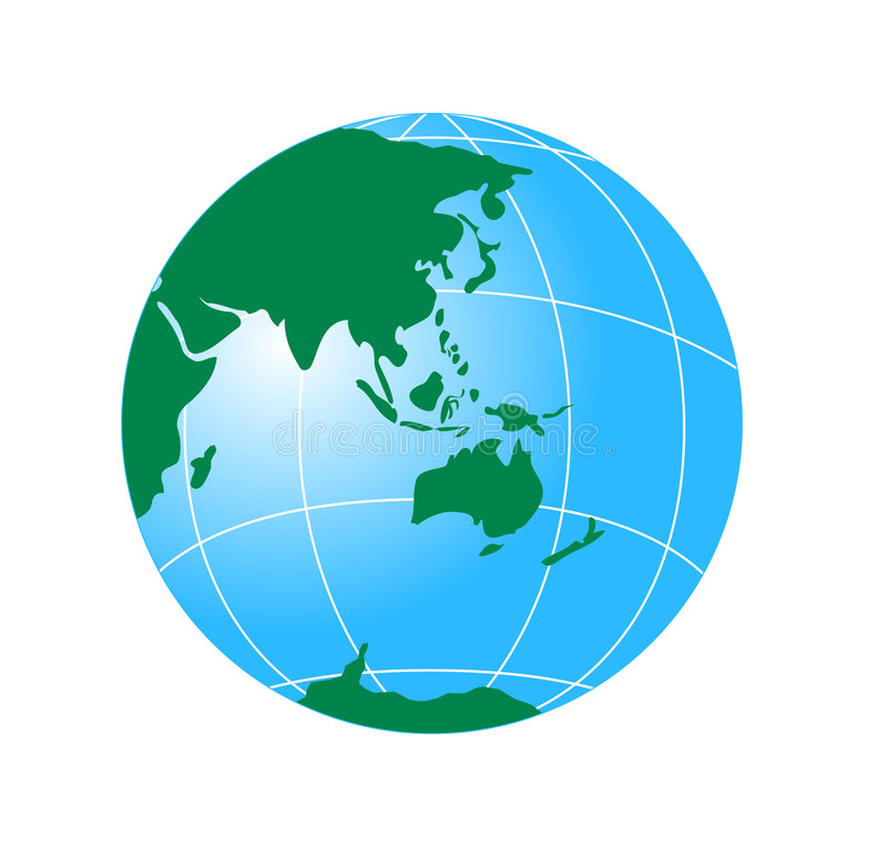 Download Globe Showing Asia And Austral Royalty Free Stock Images - Image: 3453429