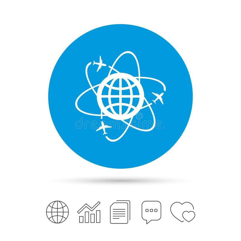 Download Globe Sign Icon World Logistics Symbol Stock Vector