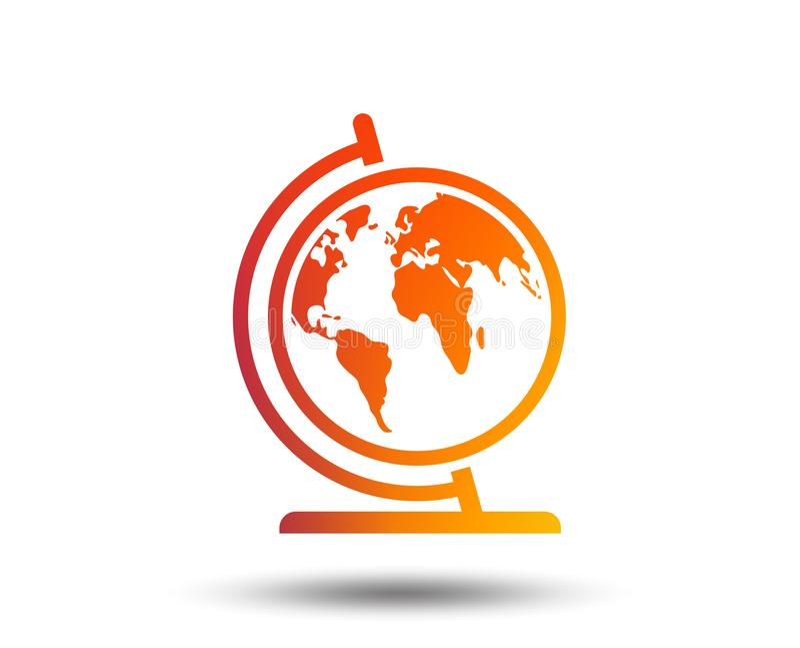 Globe sign icon. World map geography symbol. stock illustration