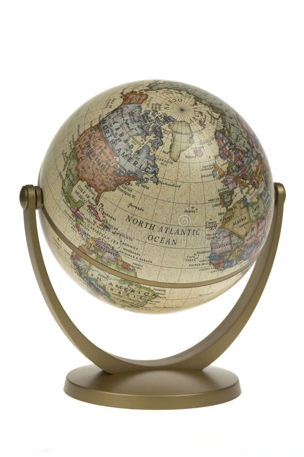 Globe simple du monde photos libres de droits