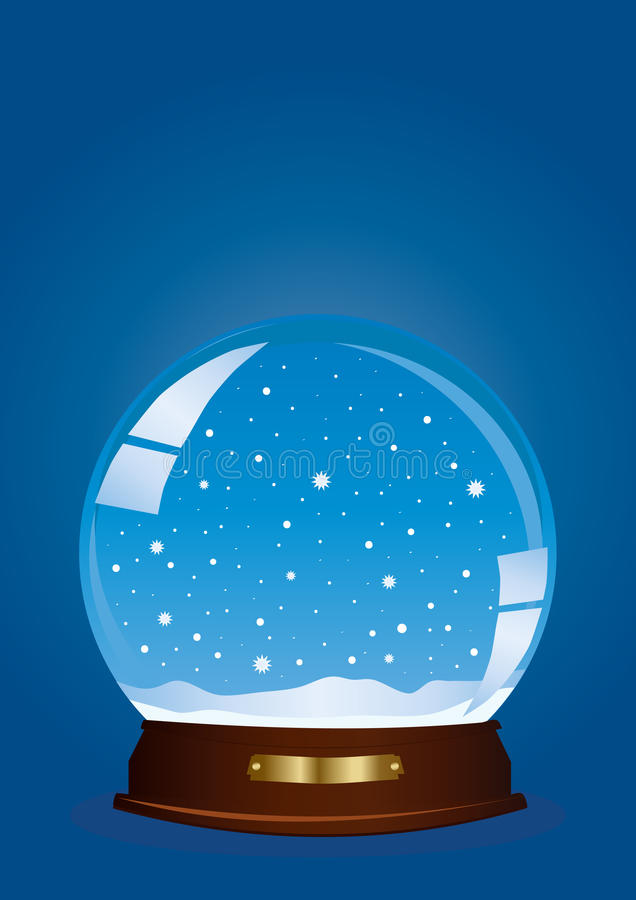 Download Globe with snow stock illustration. Image of illustration - 16448856