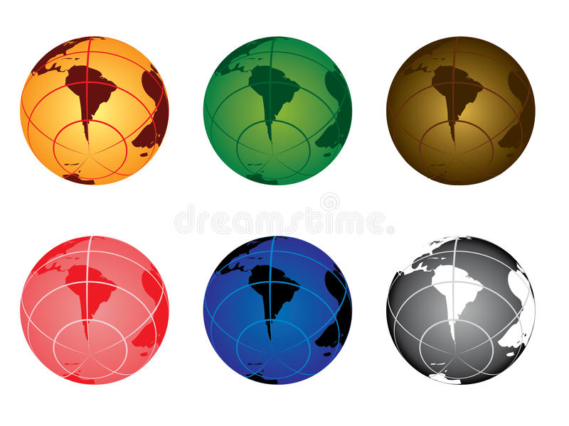 Download Globe - south america stock vector. Image of planet, sign - 21550111