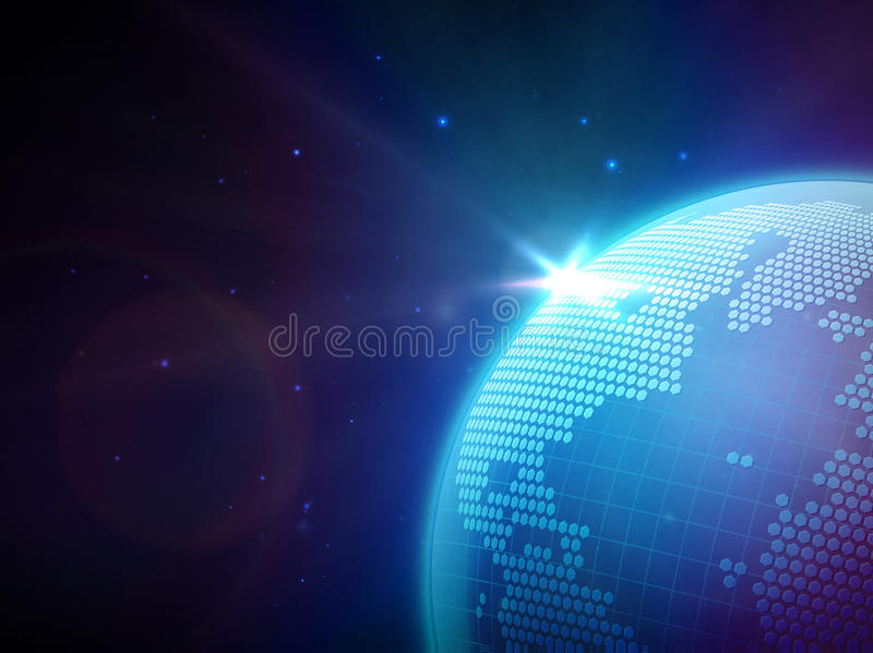 Globe In Space Royalty Free Stock Photos