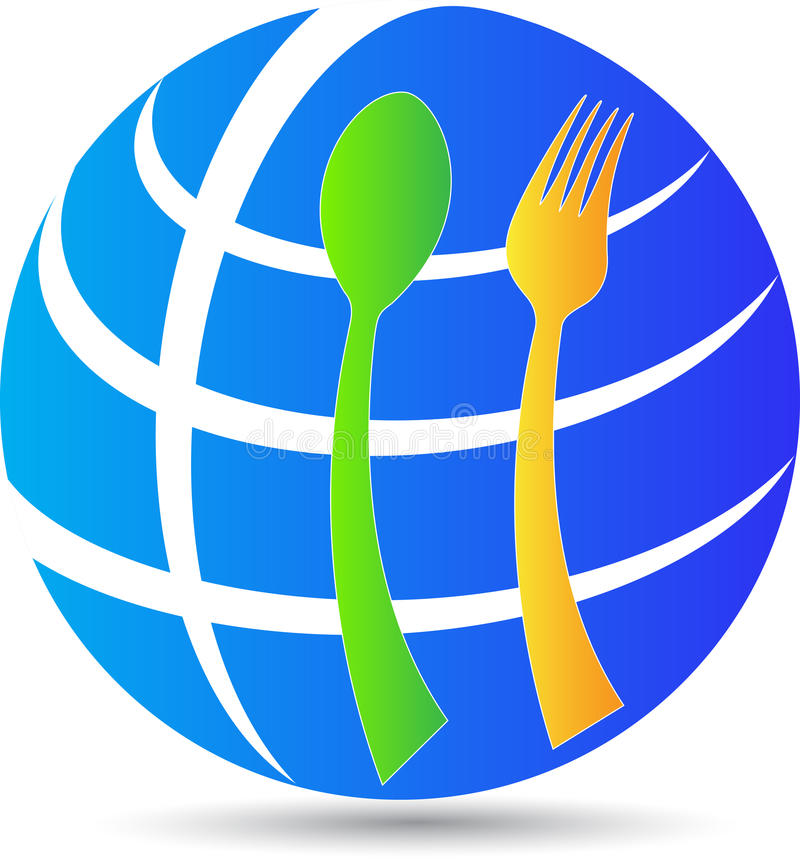 Download Globe spoon fork stock vector. Image of concept, banquet - 37752886