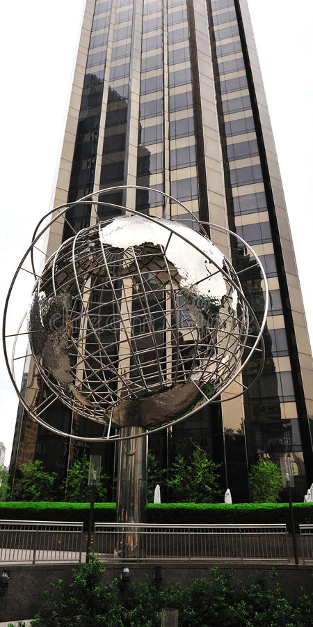 Download Globe Structure At Columbus Circle With Cityscape Stock Photo - Image: 25512960
