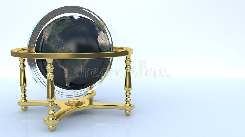 Globe sur le fond blanc image stock