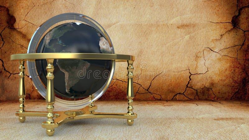 Globe sur le fond foncé image stock