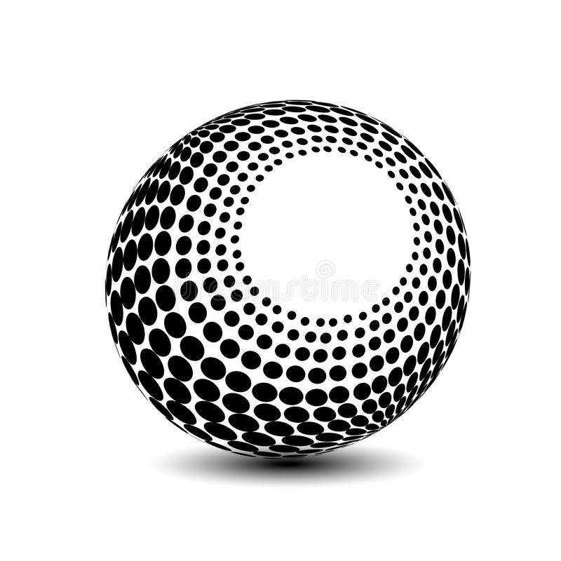 Globe Symbol - 3d Icon Of Sphere, Dotted Orb Stock Vector ...