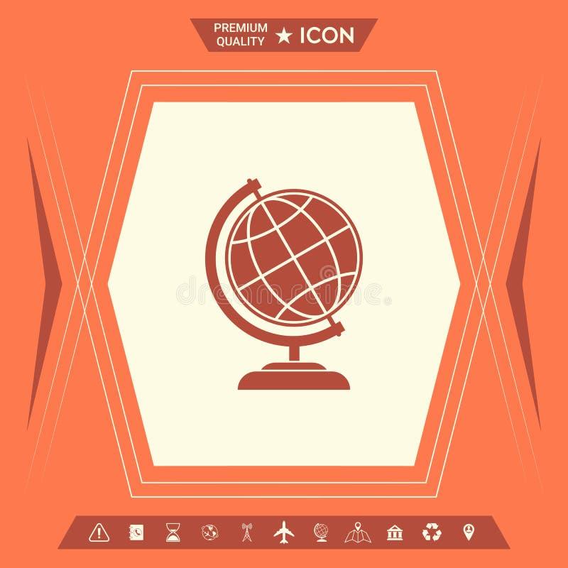 Globe symbol - Earth icon royalty free illustration