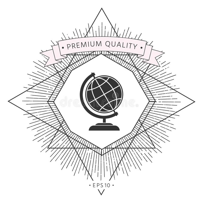 Globe symbol - Earth icon vector illustration