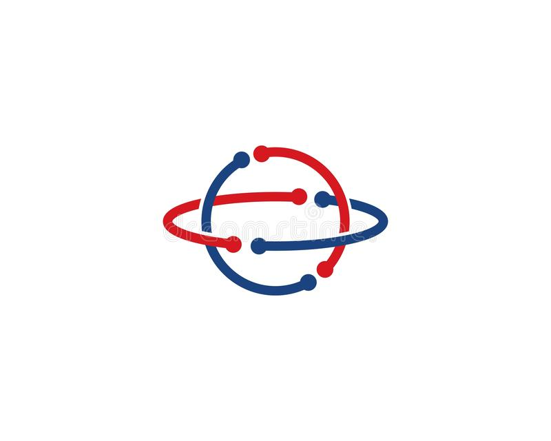 globe tech ilustration logo vector royalty free illustration