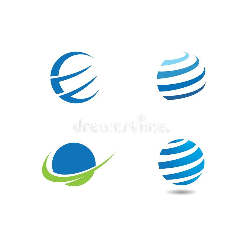 Globe tech logo. Vector template, icon, world, design, earth, graphic, symbol, business, abstract, global, concept, illustration, pixel, internet, network royalty free illustration