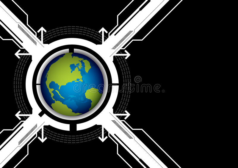 Download Globe And Technology Background Stock Vector - Image: 26870198