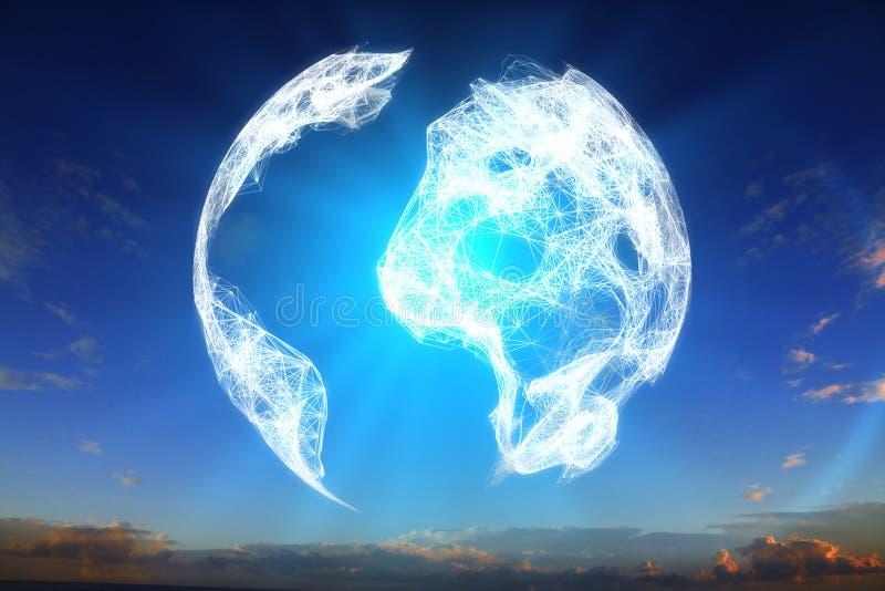 Globe terrestre de Digital image libre de droits