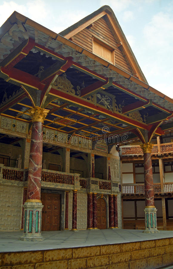 The Globe-Theater, Londen, Engeland royalty-vrije stock afbeeldingen