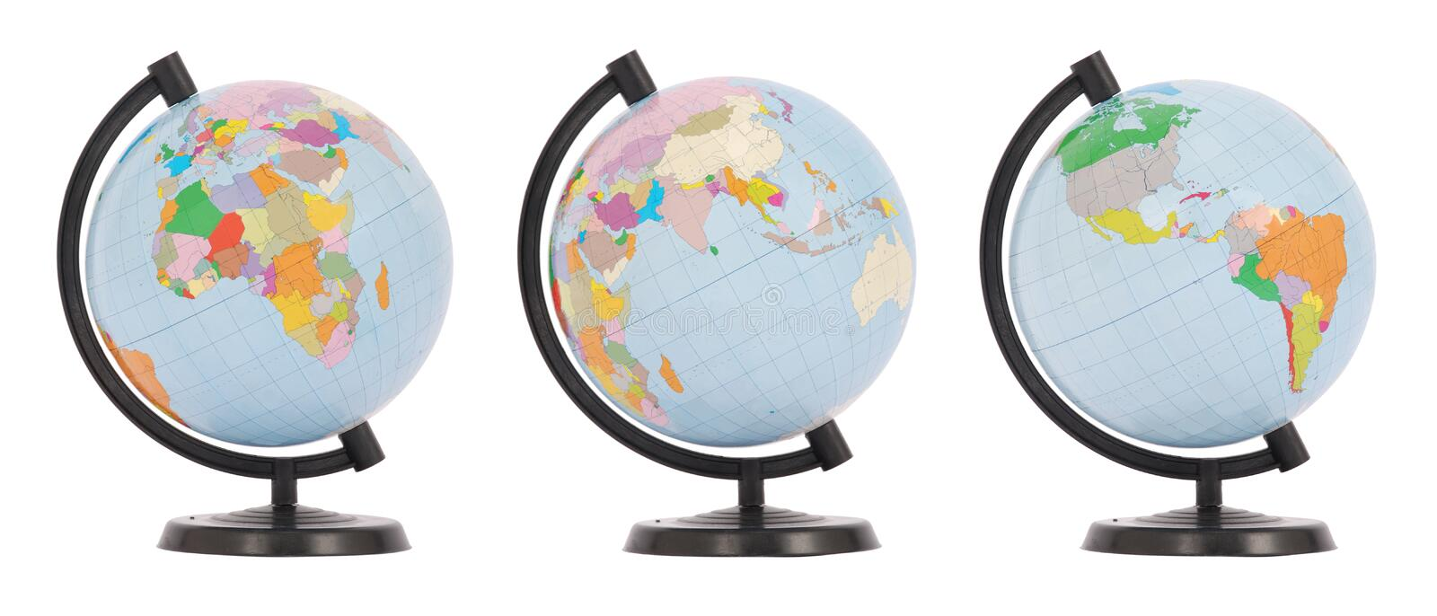 Download The Globe In Three Positions Stock Illustration - Illustration of sphere, geography: 12713458