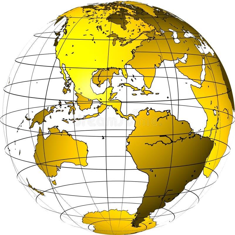 Globe transparent : l'Amérique illustration stock