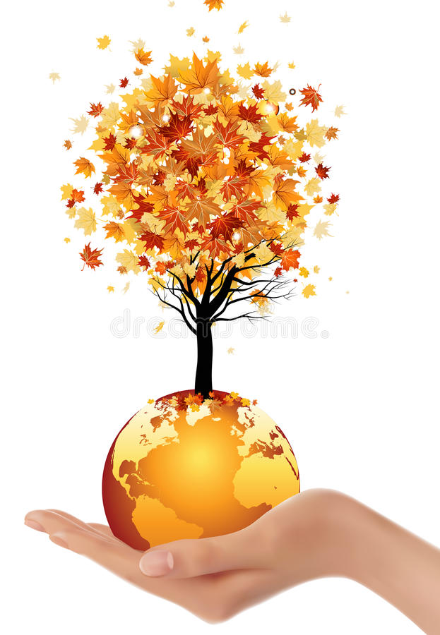 Download Globe and tree stock illustration. Image of globe, hill - 26552203