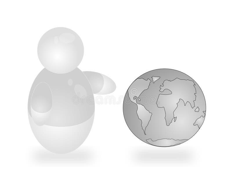 Globe-trotter royalty free illustration
