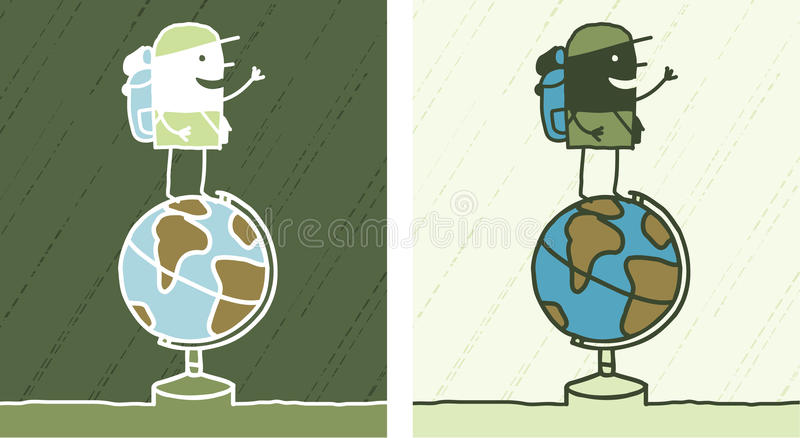 Download Globe Trotter Colored Cartoon Stock Vector - Illustration: 13513681