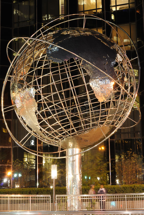 Globe at Trump Tower. Globe at Trump International Hotel and Tower at Columbus Circle in New York City royalty free stock photography